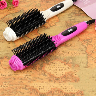 2 In 1 Professional Electric Straightening and Curling Brush