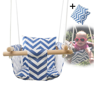 Baby Canvas Swing Hanging Chair with Cushion