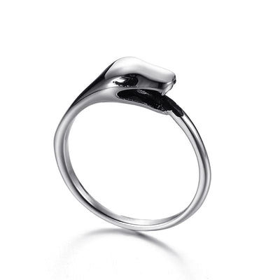 Silver Snake Fashion Ring for Men