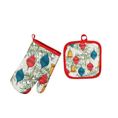 Christmas Anti Heat Padded Oven Mitts