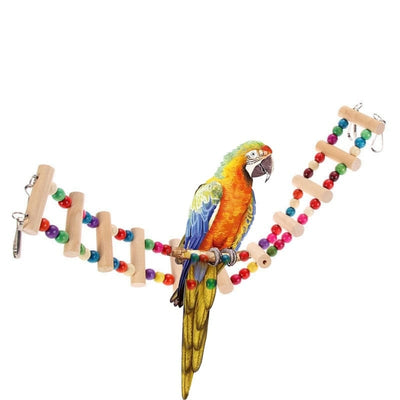 Bird Wood Ladder Toy - Cage Accessory
