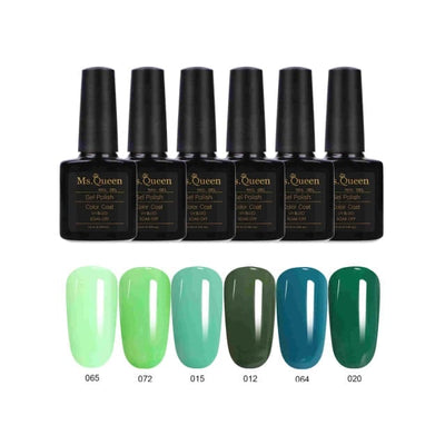 6Pcs Gel Nail Polish Soak Off Gel Polish -  UV Gel Nails