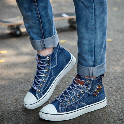 Denim Sneakers - Men Jean Shoes