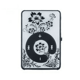 edalo mini clip flower pattern mp3 player support micro sd tf card