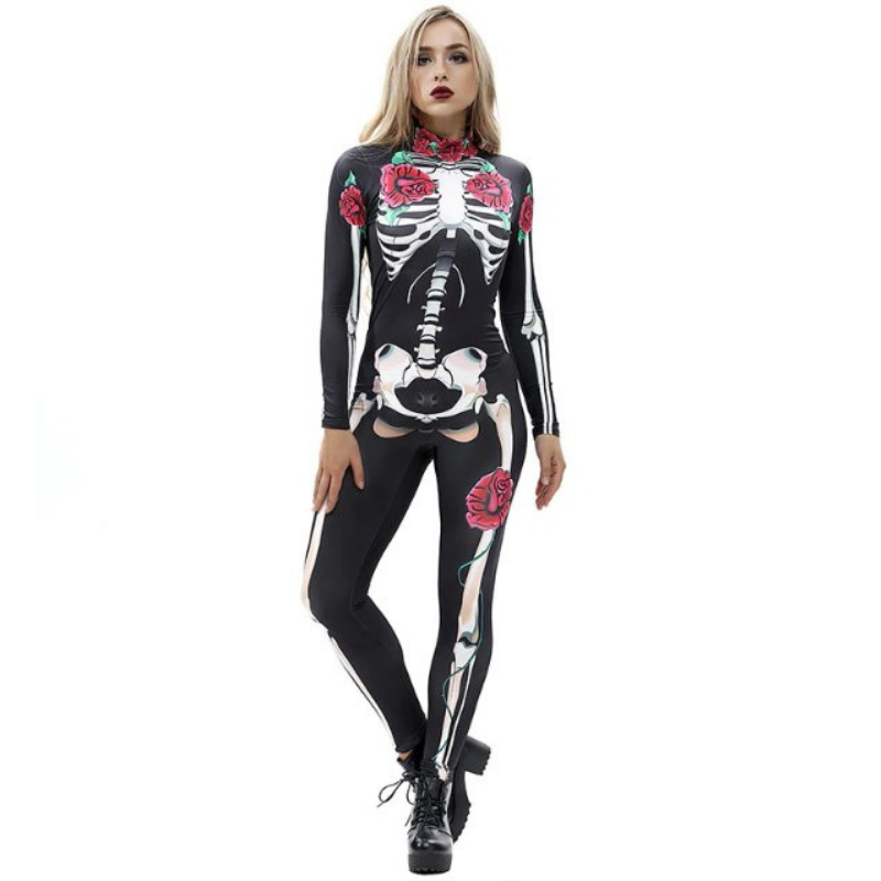 Women's Skeleton Bodysuit Halloween Costume