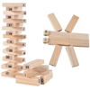 Wooden Building Blocks Stacking Game - 54Pcs with 4Pcs Dice