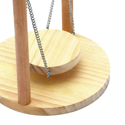 Premium Wooden Swing Hammock for Bird and Hamster