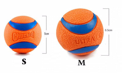 Rubber Puppy Dog Toy Ball - Best Play Fetch Throw Ball