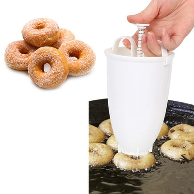 mini donut maker, donut dispenser, donut dropper, donut maker machine for home, dough maker, mini donut recipe, 2 Pcs Donut Maker - Mini Dough Maker