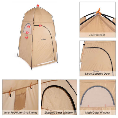Portable Outdoor Camping Shower - Privacy Fitting Room Tent