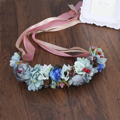 Flower Crown Wedding - Floral Girl Headpiece Accessories