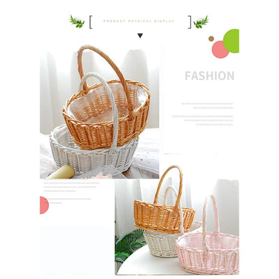 picnic basket, bread basket, wicker baskets, storage baskets, willow basket, wicker storage baskets, woven basket, Willow Wicker Storage Baskets - Woven Picnic Storage Basket