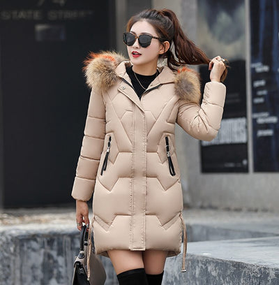 Winter Parka For Women – Padded Jacket With Faux Fur