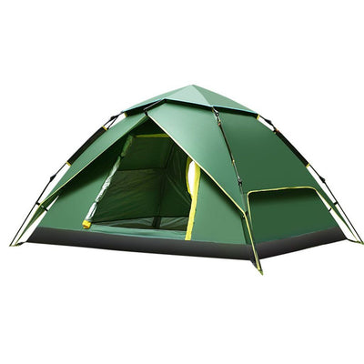 Fastest Open Automatic Hydraulic Tent - 3-4 Person Double Layer Tent