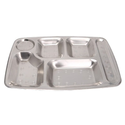 divided plates, toddler plates, portion plate, divided plates for adults, Stainless Steel Divided Plates for Adults - Portion Plate