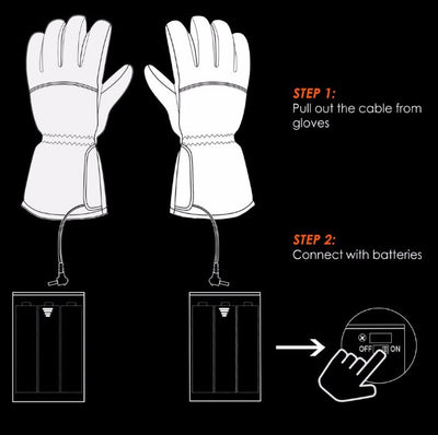 Waterproof Heated Gloves - Battery Powered Heated Gloves