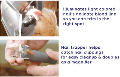 Professional Pet Nail Clipper With Led Light