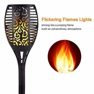 LED Solar Flame Light - Flameless Torch