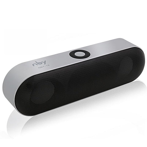 Draadloze zilveren bluetooth speaker met surround sound