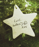 Ceramic Star Handwriting Keepsake - Large