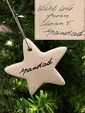 Ceramic Star Handwriting Keepsake - Small