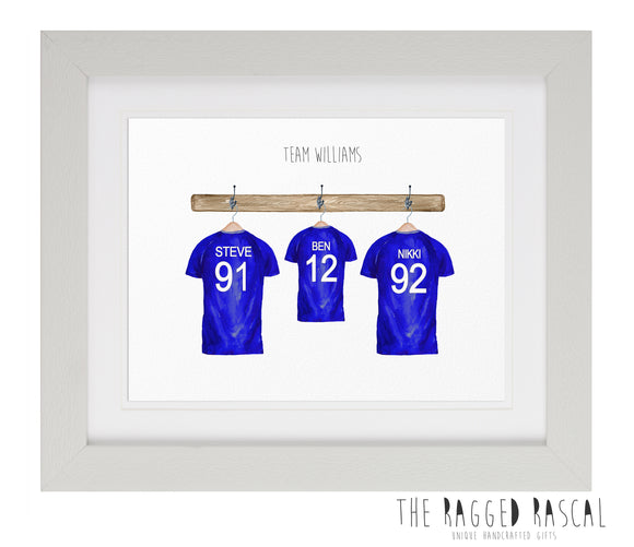 Personalised Family Football Team Art
