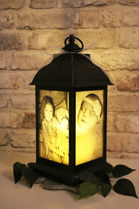 Large Personalised Photo Lantern - Antique Bronze