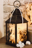 Small Personalised Photo Lantern - Antique Bronze Effect
