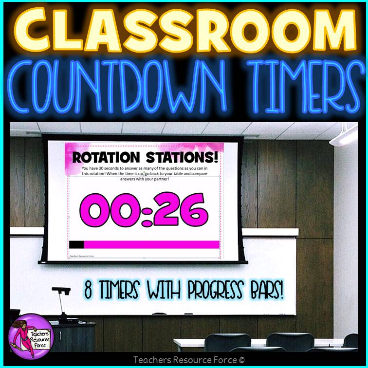 Awesome countdown timers for the classroom