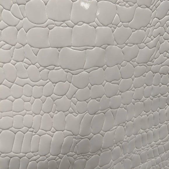 Patent White Alligator