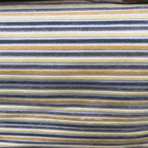 Velvet - Yellow and Grey Stripe
