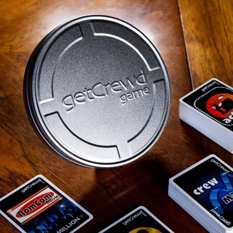 getCrewd Party Card Game packaged in retro Hollywood filmcan.  2 decks - Action + Crew - Game on !