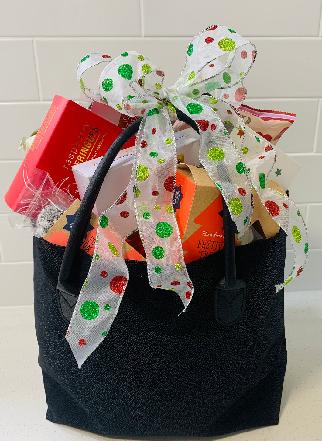 CHRISTMAS TOTE, WITH ALL THE GOODIES