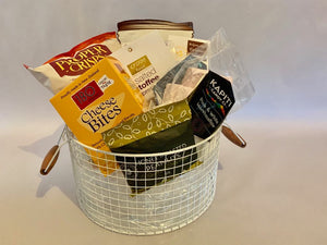SMALL TIN POT HAMPER