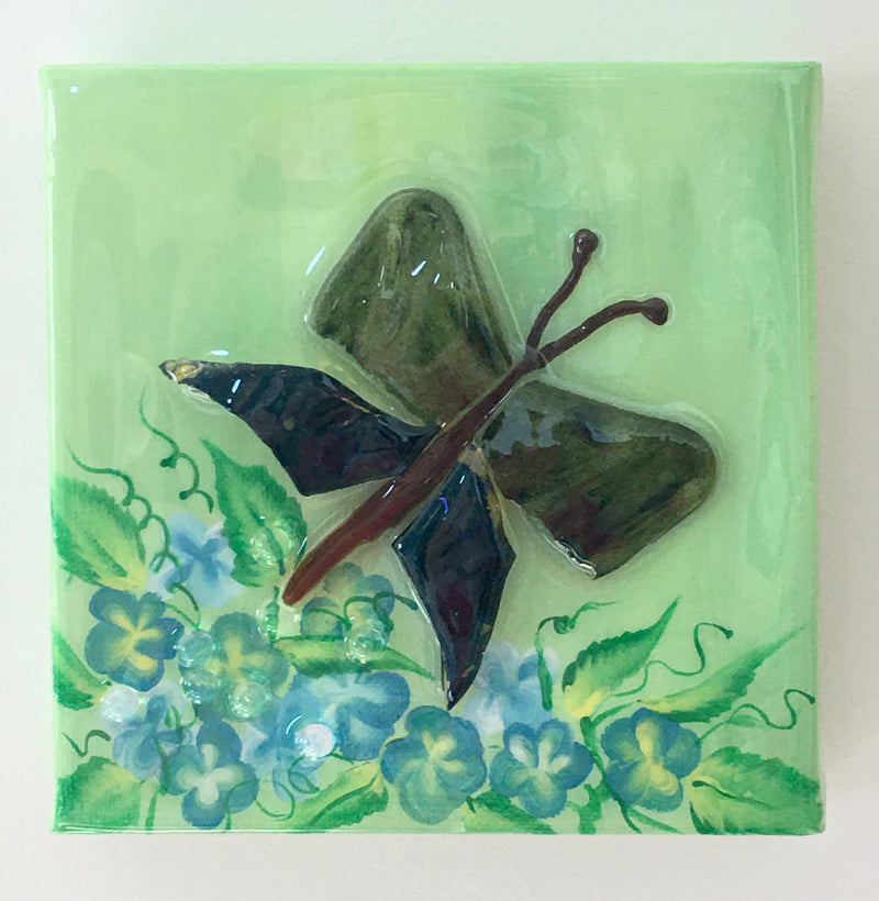 Mosaic Butterfly and Dragon Fly Art