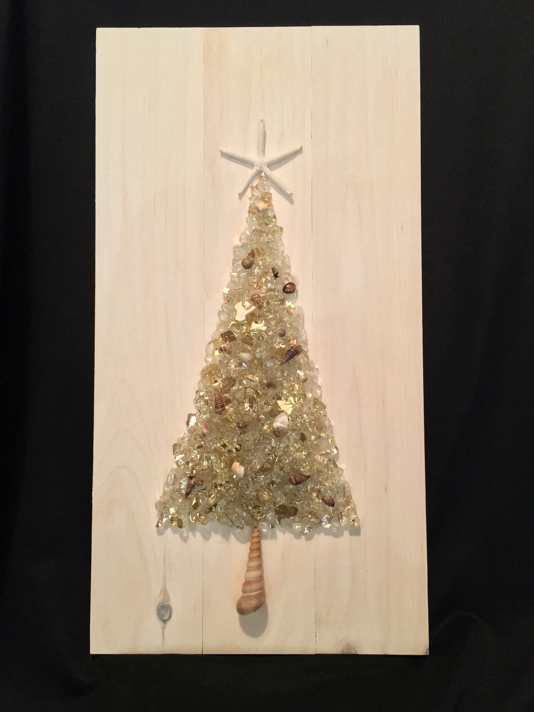 Beach Coastal Christmas Tree Wall Decor