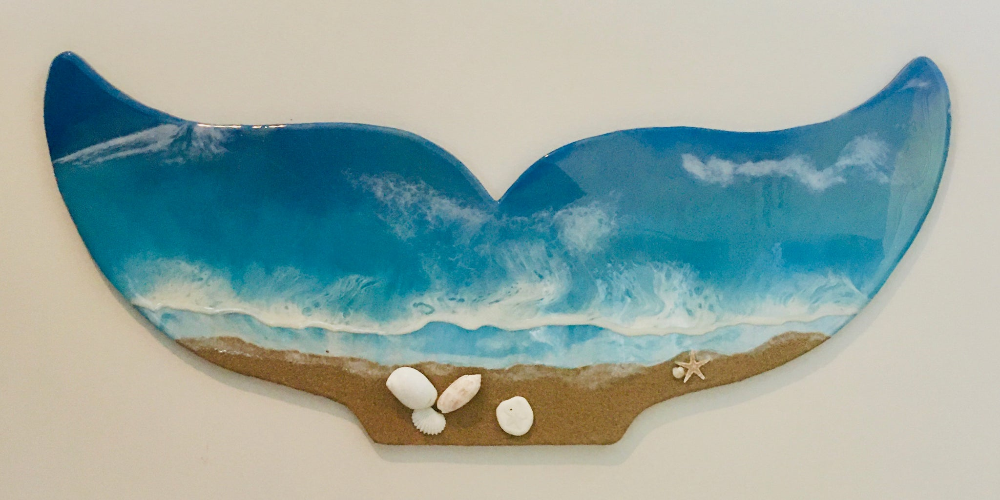 Whale Tail Beach Style Wall Decor