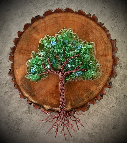 Small Wood Cookie Tree of Life