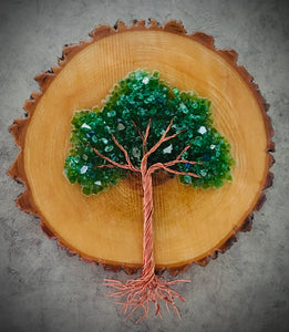 Round Wood Cookie Tree of Life