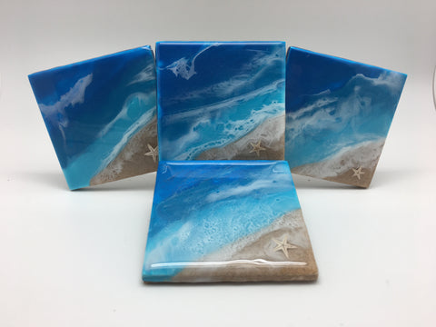 Ceramic Beach Coaster Set