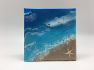 Ceramic Beach Design Trivet