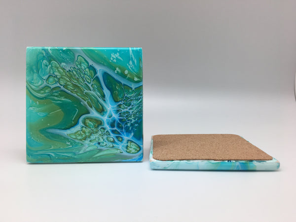 Ceramic Coaster Set Green Dream