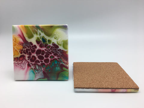 Ceramic Coaster Set Rainbow Sparkle