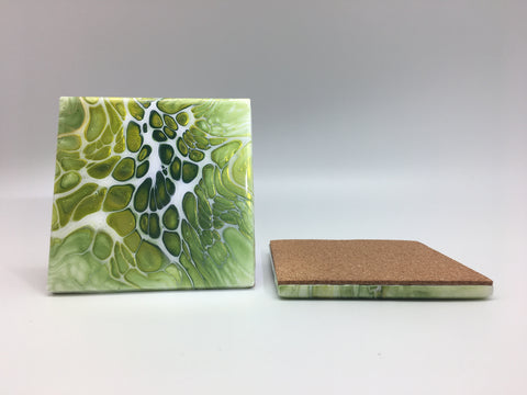 Ceramic Coaster Set Lime Delight