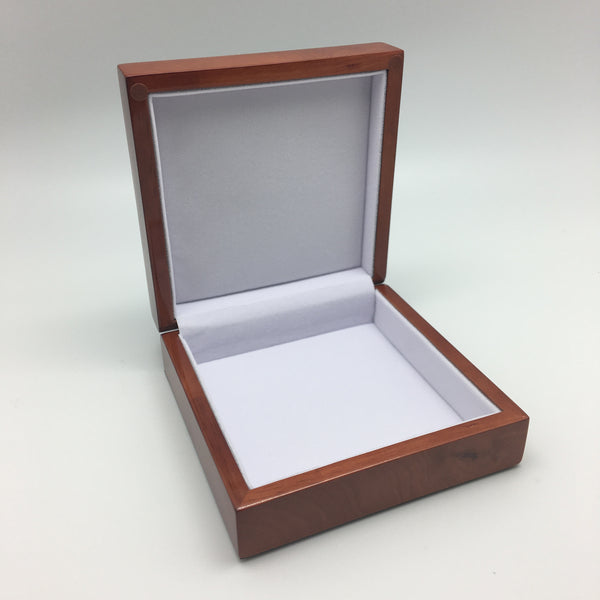 "5 1/2"" x 5 1/2"" Keepsake Jewelry Box in Walnut Finish"