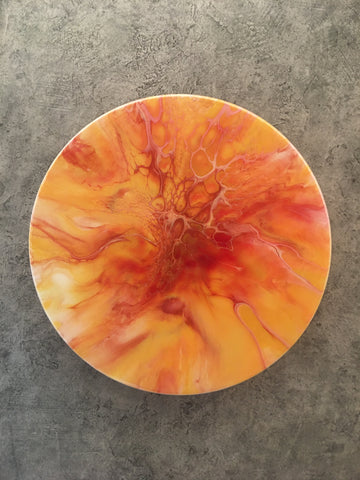 "12"" Round Acrylic ART Blood Orange Slice"