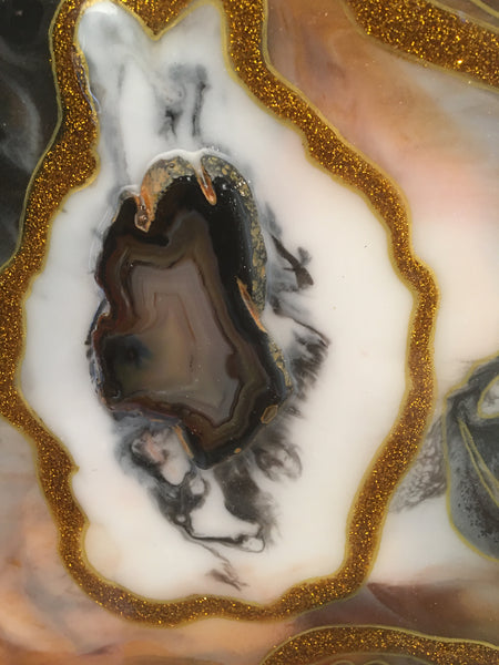 "Agate Art Black 8"" x 10"""