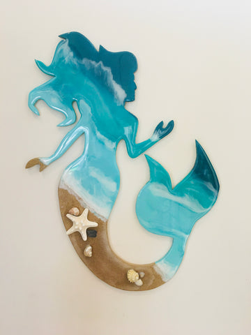 Mermaid on the Beach Wall Decor, Art