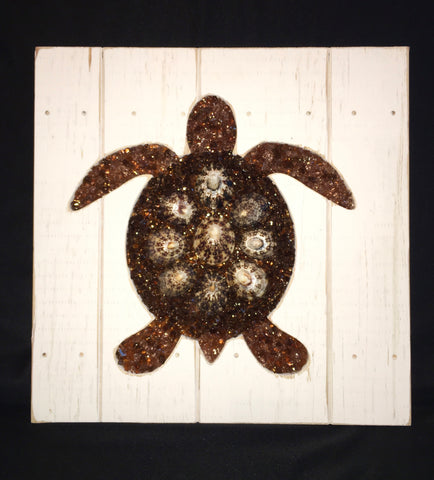 Glass Mosaic Turtle Beach Decor
