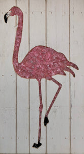 Pink Glass Flamingo